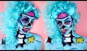 Pop Art zombie - makeup