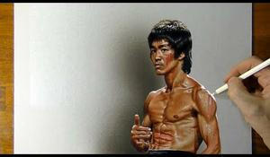Bruce Lee kresba