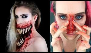 Horor halloween makeup