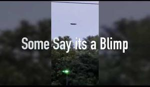 UFO Sighting in NJ startles people turns out to be GoodYear Blimp