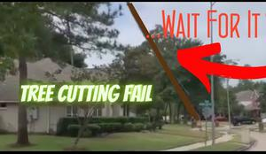 Tree Cutting Fail LumberJack Fail VIRAL VIDEO Tree Falls on Home in Houston Texas plus Compilation